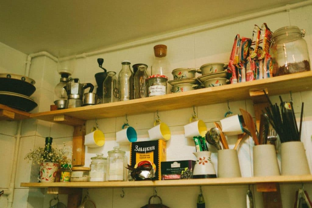old kitchen shelves| Chaos clean up