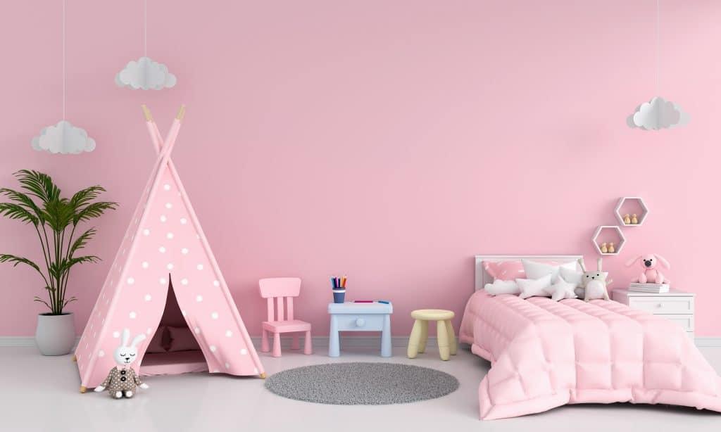 pink bed room  Little girls bedroom makeover